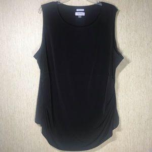 Calvin Klein Black Sleeveless Top, size 2X.